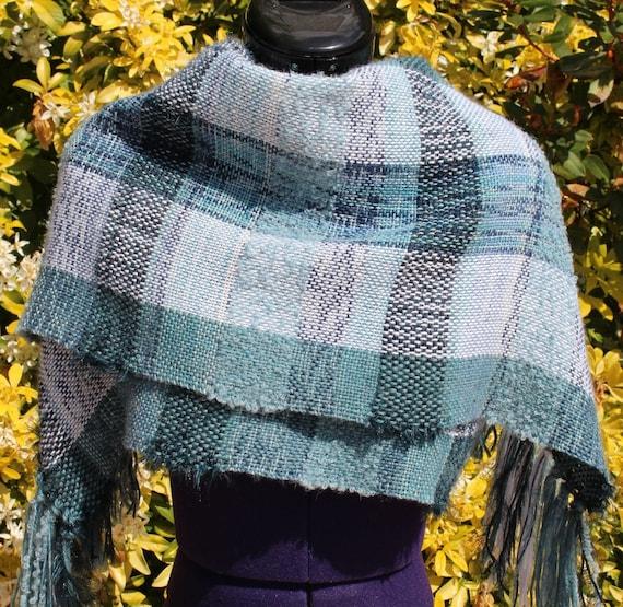 Étole écharpe tartan en laine châle plaid chaud écharpe   Etsy f8a68a4959b