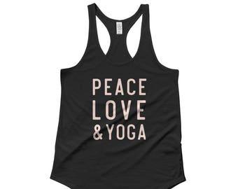 Peace Love & Yoga Racerback Tank