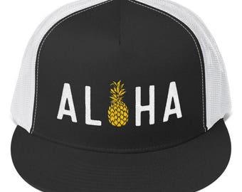 Aloha Pineapple Trucker Cap