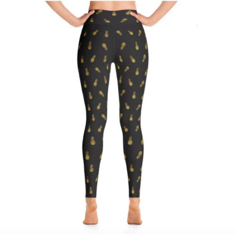 Festival Clothing Women Women/'s High Waist Leggings Pineapple Pants Golden Pineapple Leggings