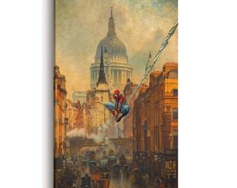 Spiderman Print | art print on canvas | Spiderman mural | wall mural | Marvel wall art canvas