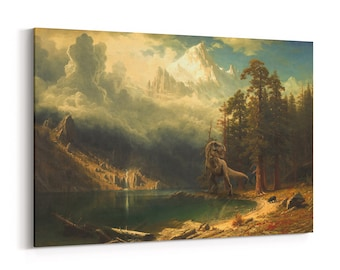 Art Print | T-Rex painting | altered print | dinosaur painting | dino fine art |  wall art canvas