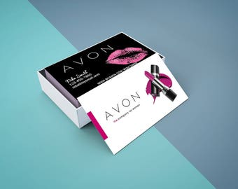 Avon business cards etsy avon business card digital or printed free shipping colourmoves