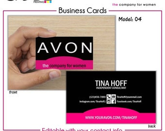 Avon business cards etsy avon business card digital file colourmoves
