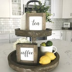 coffee bar tiered tray mini wooden sign | coffee lover gift | gifts under 10