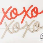 Valentine's Day word for wreath, xoxo word cut out, Valentine's Day door decor, xoxo door decor