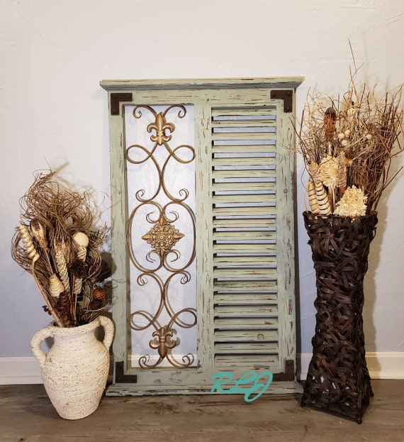 French Country Iron Floral Antique White Shabby Chic Decorative Fireplace Screen Fireplace Screens Doors Home Garden Pumpenscout De