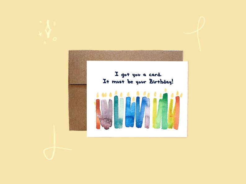 I Got You A Card Funny Happy Birthday Colorful HB