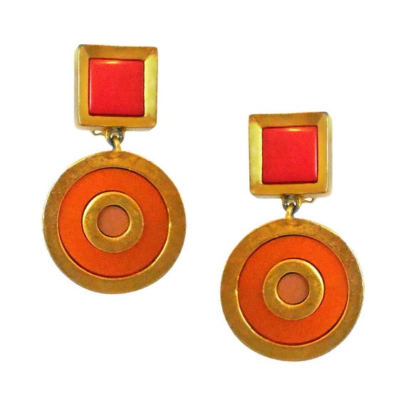 KARL LAGERFELD clips Earrings. Clip on Vintage Ear