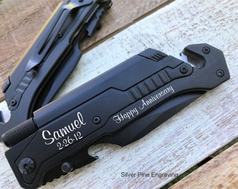 Husband Anniversary Gift 10 Year Anniversary Gifts For Men, Gift For Husband, Tactical Folding Knife, Pocket Knife, Engraved Knife