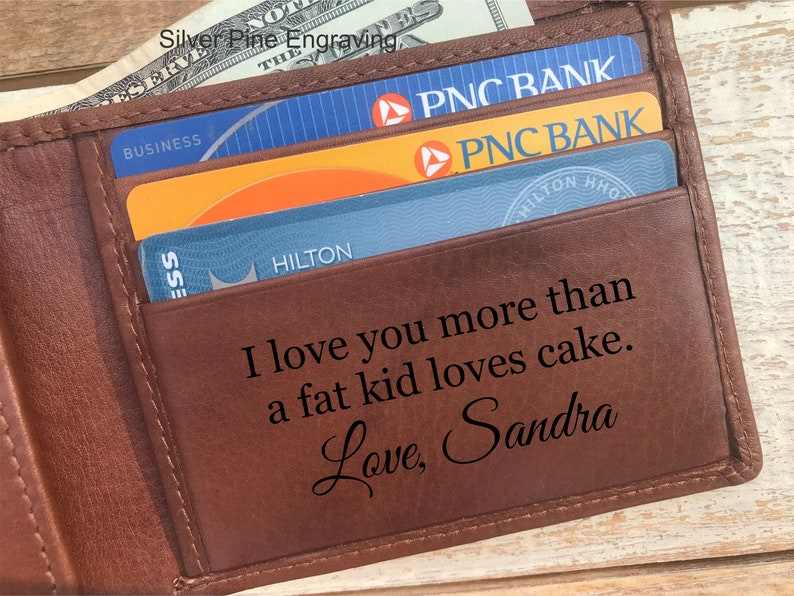 2ae67645ac4d Father Day Gift Boyfriend Gift Personalized Wallet Husband