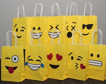 Emoji Goodie Bags Goody Favor Birthday Decorations Party Supplies