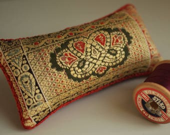 Vintage Indian Dress Fabric Pincushion