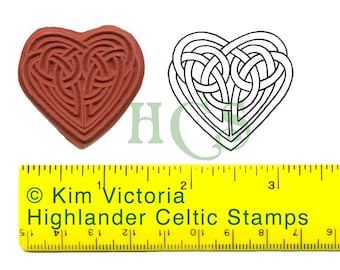 Celtic Knotwork Heart Unmounted Rubber Stamp 361
