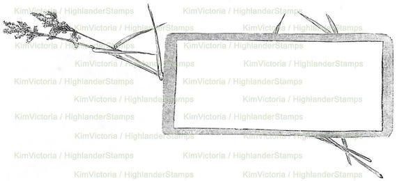 Digital Download Grass Frame small Illustration Border | Etsy