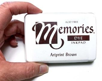 Memories Premium Dye Ink Pads, Archival Permanent Acid-free Multi-surface Quick-drying, Watercolor Artists