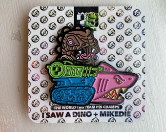 Brown limited SnakeSpitter and Jaw LE pin collab set with isawadino