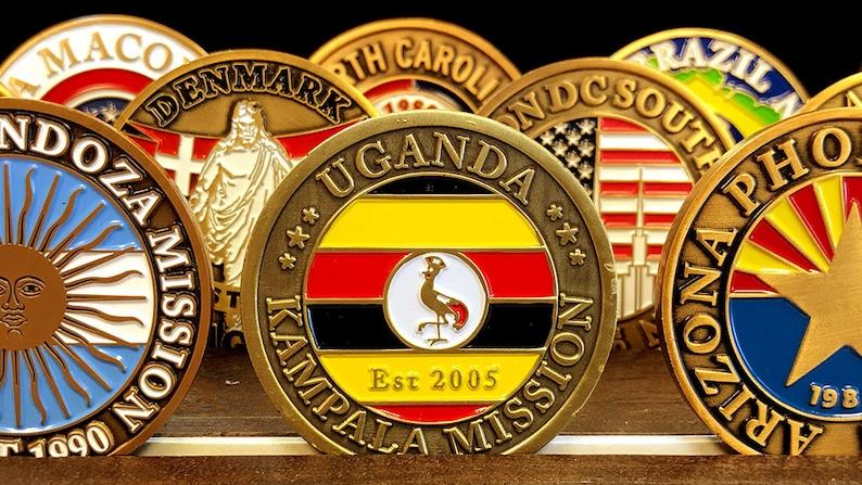 Uganda Kampala Mission Commemorative Mission Coin