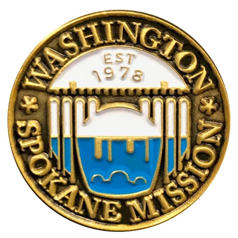 Washington Spokane Mission lapel pin (LDS)