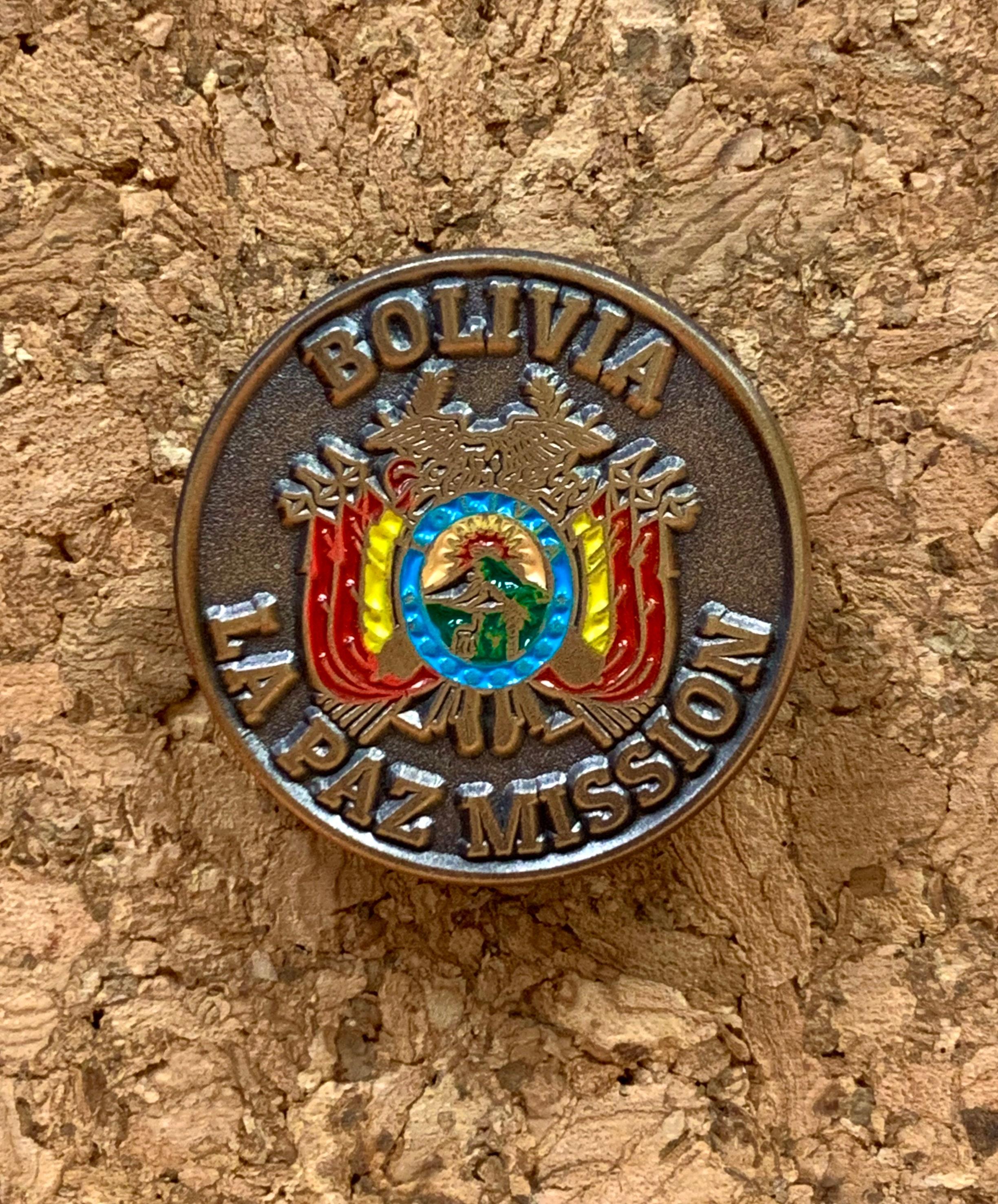 Baltic Mission lapel pin LDS