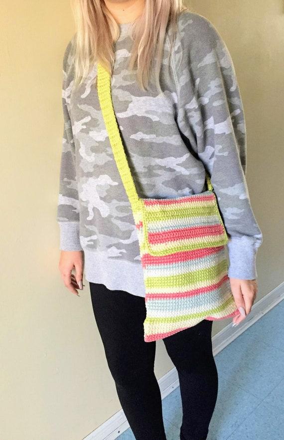 Crochet Messenger Bag   Macrame Purse   Macrame Cr
