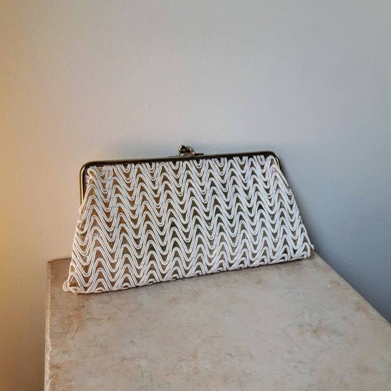 Mid Century Vintage Formal Beaded Clutch Bag | 194