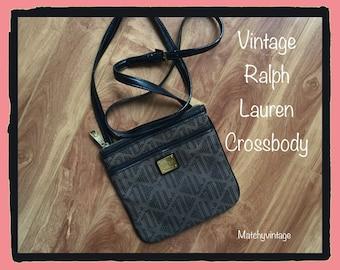 FREE SHIPPING | Vintage Ralph Lauren Crossbody | Designer Handbag 80s Bag