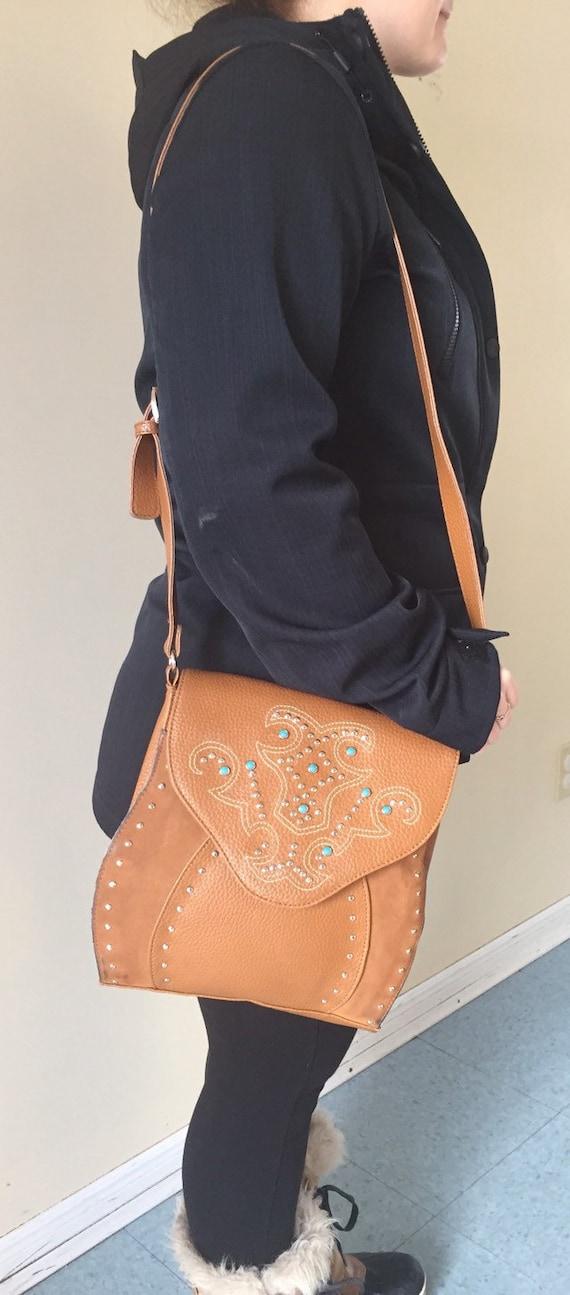 Western Saddle Bag | Vegan Purse | Mexican Shoulde