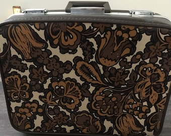 Rare one of a kind 1970s Towncraft vintage suitcase