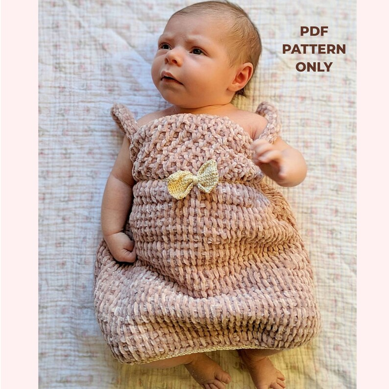 Tunisian Crochet Dress Pattern Crochet Dress Crochet For Etsy
