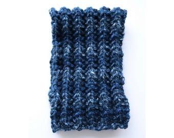 Men's cowl, wool neck warmer, men cowl scarf, chunky cowl, wool neck warmer, bulky knit cowl, bulky navy blue scarf, valentines for him