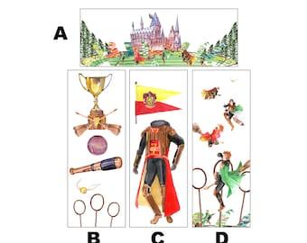 Watercolour Quidditch Bookmarks