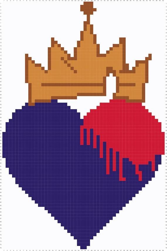 Evie Descendants Symbol Heart Crown Etsy
