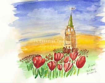 Ottawa Tulip Festival Parliament Hill