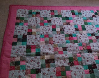 Green and Pink Quilt