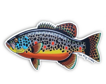 Brown Trout Bass Fly Fishing Decal - Fly Fishing Sticker - Brown Trout Decal - Fishing Decal - Fishing Sticker - 5 inches