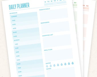 Daily Planner - Half Page