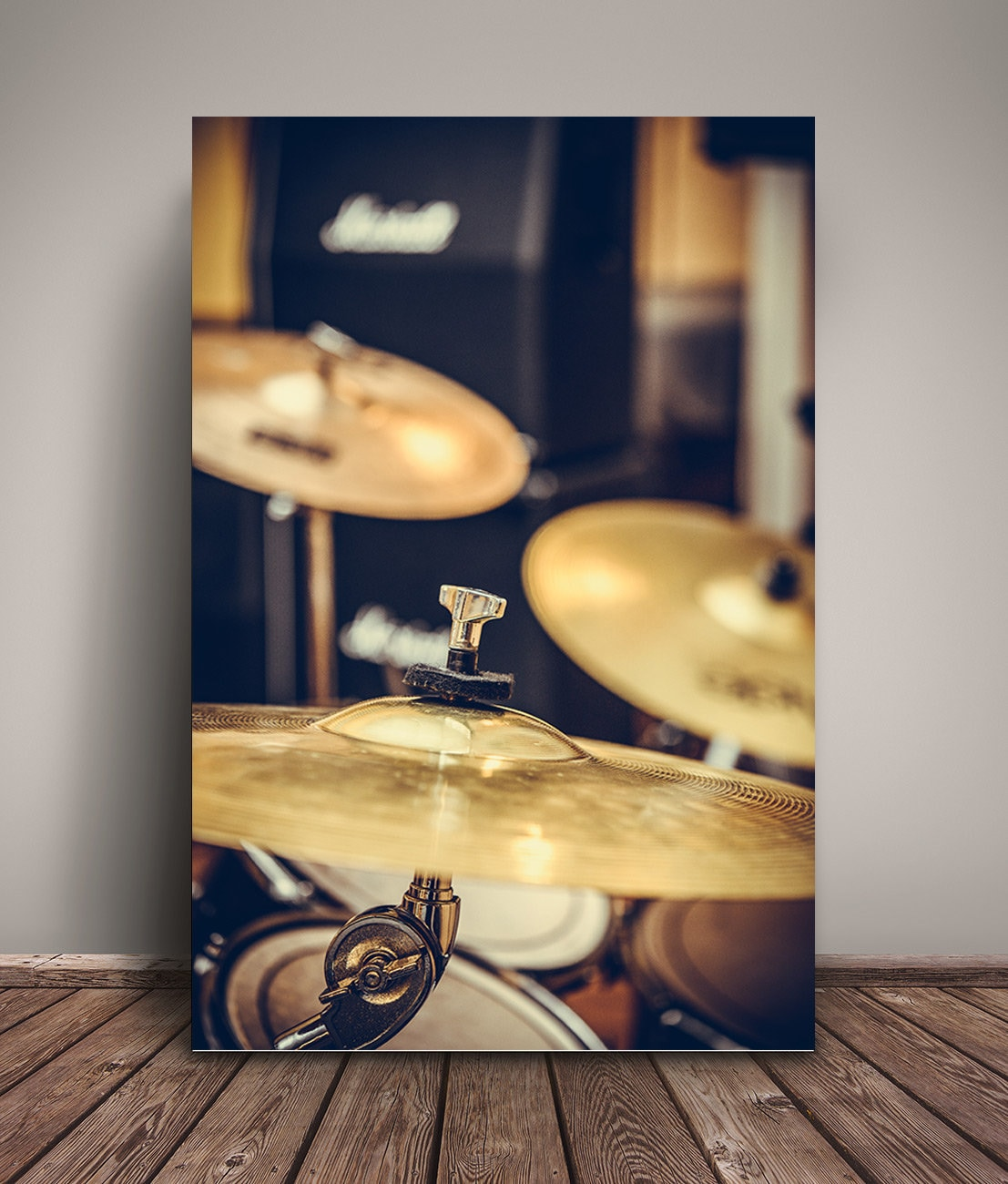 Drum music photo poster wall art decor cymbal photography | Etsy