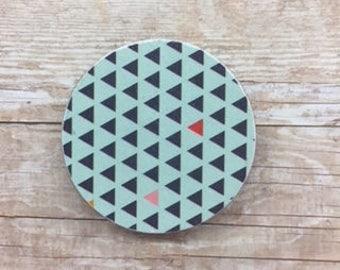 Green/Blue Patterned Magnets - Set of 9