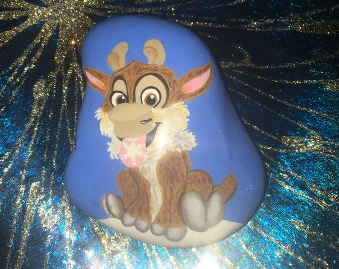 Hand painted Sven, Painted rocks, gifts under 50, Disney rocks, painted pebbles, painted stone, Disney Frozen