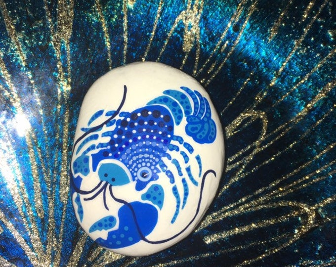 Painted rocks, hand painted rock, painted stones, gifts under 50, beach decor, coastal decor, whimsical beach themed rocks, painted lobster