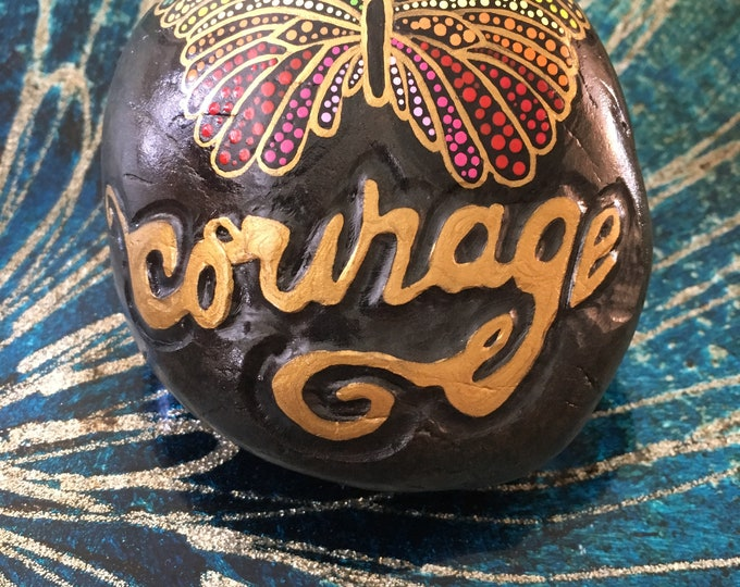 Painted rocks, hand painted rocks, hand painted stones, gifts under 50, mandala stone, engraved stone, custom painted rocks, butterfly rocks