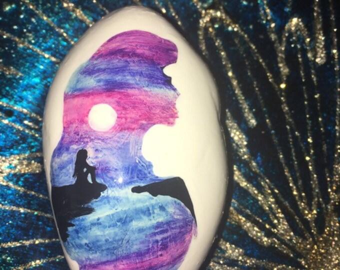 Painted rocks, painted rock, hand painted rocks, hand painted rock, painted stones, gifts under 50, the little mermaid, Disney princess