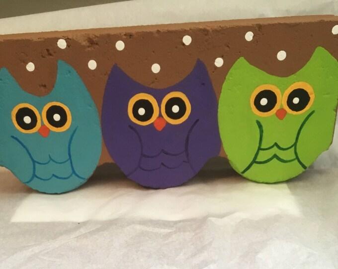 Painted owl door stopper