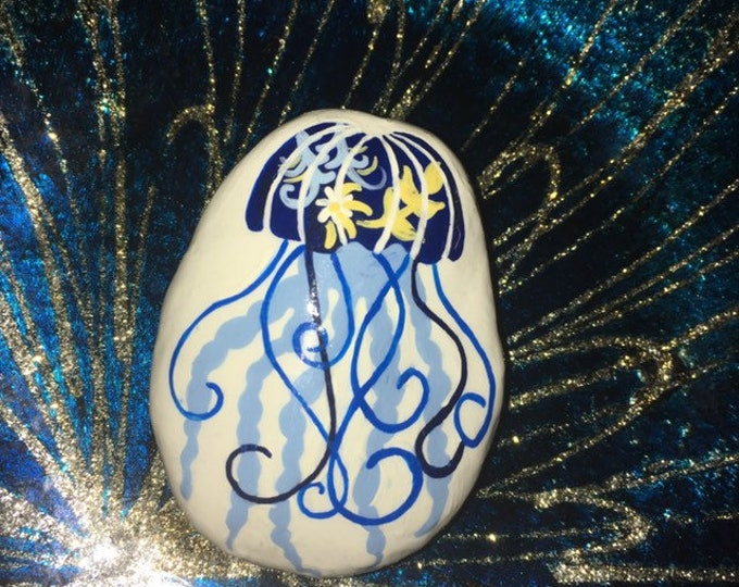 hand painted octopus, gifts under 50, painted rocks