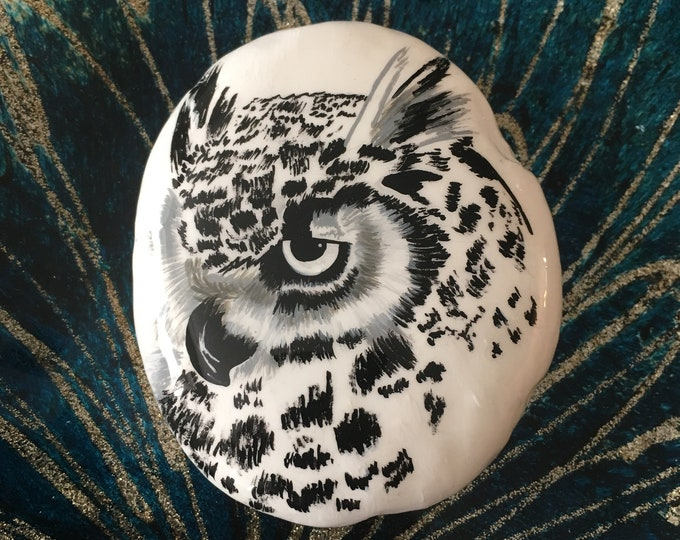 Hand painted Owl, Painted rocks, gifts under 50, painted pebbles