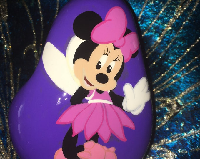 Painted Minnie Mouse, Painted rocks, gifts under 50