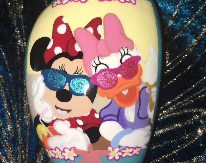 Painted Daisy and Minnie, Painted rocks, gifts under 50