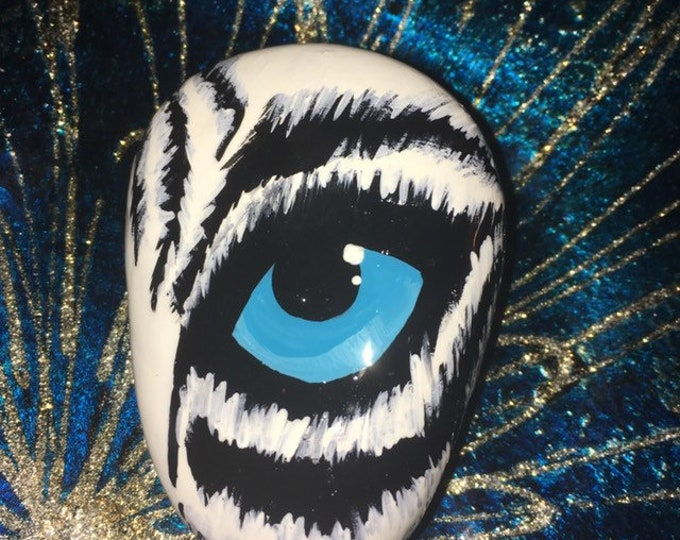 Eye of the Tiger, hand painted Tiger, gifts under 50, painted rocks