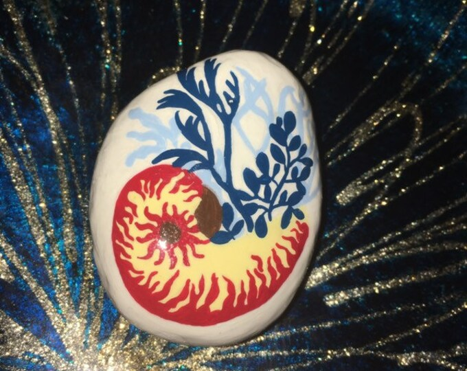 hand painted sea shell, painted rocks , gifts under 50